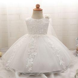 $enCountryForm.capitalKeyWord Australia - Baby Girls White Dress For 1 2 Year Birthday Gift Dress Toddler Newborn Baby Flower Petals Frocks Kids Girl Tutu Party Dresses Y19050801