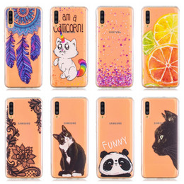BlackBerry fruits online shopping - Soft TPU Case For Samsung A70 A50 A40 A30 A20 A10 Huawei P30 Lite Pro Y6 Y7 Owl Cat Flower Lace Flamingo Fruit Donut Panda Cute Cover