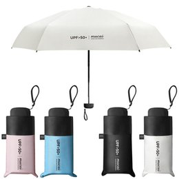 wholesale sun umbrellas NZ - Anti-UV Pocket Mini Umbrella Rain Women Windproof Durable 5 Folding Sun Umbrellas Portable Sunscreen Female Parasol
