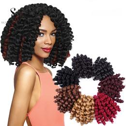 $enCountryForm.capitalKeyWord Australia - Wand Curls Crochet Hair Extensions 6packs Jamaican Bounce Wand Curled Hair Synthetic Braiding Hair 8 Inch