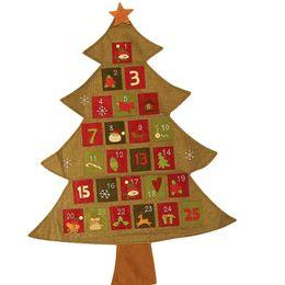 $enCountryForm.capitalKeyWord Australia - Hanging Christmas Advent Calendar Countdown To Christmas Tree Xmas Ornament Decorations For Home Party Supplies