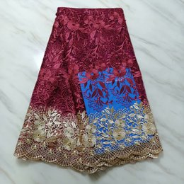 Cheap Fabric Wholesalers Australia - The large tulle fabric and the 3D decals of the French lace mesh lace with cheap fashion and elegant