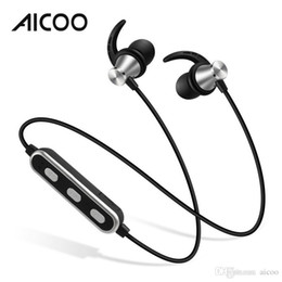 Neckband Stereo Bluetooth Earphones Australia - AICOO S1C Wireless Bluetooth 4.2 Earphones In Ear Neckband Universal Bilateral Stereo Sport Headset for Android iPhone Retail Package