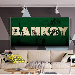 banksy spray art 2019 - 1 Pcs Banksy Street Art Decorative Canvas Prints Modern Wall Graffiti Art Canvas Paintings Posters And Prints Cuadros No