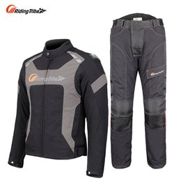 Nylon Motorcycle Jackets Australia - Riding Tribe Motorcycle Men's Jacket Pants Suit Winter Warm Waterproof Moto Racing Clothes Protective Armor Clothing JK-56