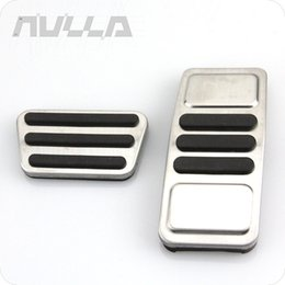 stainless accelerator pedal Australia - NULLA Stainless Steel Alloy Gas Accelerator Brake Pedal for Mustang 2015 2016 2017 LHD
