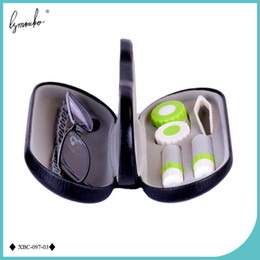 Kit Boxes Australia - Lymouko High Quality Double Interlayer With Mirror Metal Contact Lens For Kit Box Dual Purpose Leather Reading Glasses Case C19041201