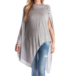 long sleeve modal tees Australia - Women Maternity Breastfeeding vestidos lactancia materna Tee Nursing Top Solid Long Sleeve pantalon embarazo T-shirt #SS