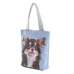 7deb9bf913e8 Designer Woman Tote Canvas Bag Cute Cat Dog Printed Handbag Animal Design  Beach Casual Shoulder Bags Best Sale-WT