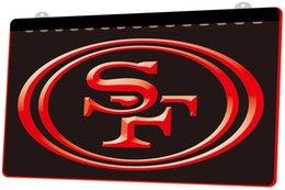 LS849-R-Signe de la lumière au néon LED 3D du football 49ers Football Personnaliser à la demande 8 couleurs au choix.jpg en Solde
