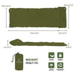 $enCountryForm.capitalKeyWord Australia - Wholesale- Sleeping Pad Camping Mat With Pillow air mattress picnic Inflatable Cushion Sleeping Mat Fast Filling Air Moistureproof air bed
