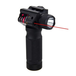 Wholesale Tactical Quick Detachable Vertical Grip Aluminum Flashlight LED Hunting Gun Light with Integrated Red Laser