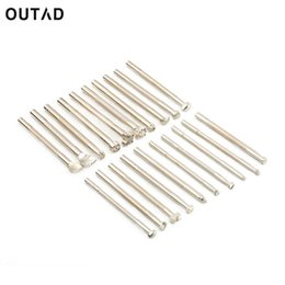 $enCountryForm.capitalKeyWord Australia - OUTAD 20pcs set DIY Silver hand tools for Leather Working Saddle Making Carving Stamps embossed Craft Tools Drop Shipping