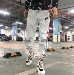 5903 Mens Jogger Luxo Calças Calças New Branded cordão Esportes alta moda 3 cores Stripe Side Designer tamanho Corredores: S-3XL em Promoção