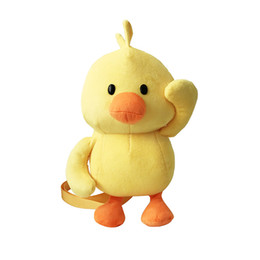 $enCountryForm.capitalKeyWord Australia - Cute Girl Duck-Like Plush Weird Zipper Coin Purses For Kids Students case Cartoon Wallet Bag Pouch Children Shoulder Bags #T10P