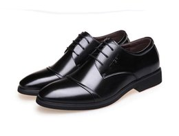 comfortable dress shoes for men Canada - Men Oxfords Leather Shoes British Black Shoes handmade comfortable formal dress men flats Lace-Up oxford shoes for men