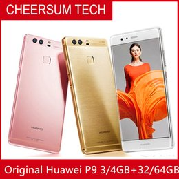 "Cellphone Pricing NZ - Global Firmware HuaWei P9 4G LTE Mobile Phone Kirin 955 Octa Core Android 6.0 5.2"" FHD 4GB RAM 64GB ROM 12.0MP Fingerprint bulk price"