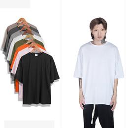 $enCountryForm.capitalKeyWord Australia - Oversized Shirt Kanye West S- Xxl Fashion Plain Half Sleeve T Shirts Men Loose Black Man Tshirts Harajuku Mens T-shirt C19041901