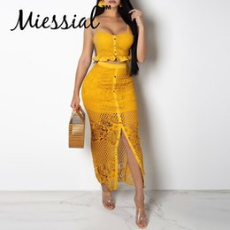 $enCountryForm.capitalKeyWord Australia - Miessial Sexy Ruffle Two Piece Suit Bodycon Dress Women Hollow Out White Summer Dress Female Party Club Beach Elegant Maxi Dress Y19053001