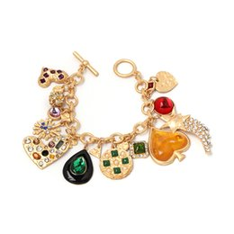 $enCountryForm.capitalKeyWord Australia - Fashion Gold Chain Crystal Diamonds Bracelet Bangle Adjustable Simple Bracelets Heart Love Bracelet Woman Wedding Party Jewelry Woman Gifts