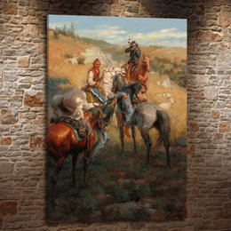 indian frames UK - Western Indians , Canvas Painting Living Room Home Decor Modern Mural Art Oil Painting