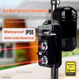 venda por atacado 20M ~ 150M de feixe duplo Sensor fotocélulas infravermelho ativo Detector de intrusão Segurança Janela parede da barreira IR Outdoor Movimento Alarm
