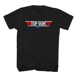 Green White Movie Logo UK - Top Gun Vintage Movie Logo Men's T Shirt Tom Cruise MaveriFashion Goose Fighter Pilot