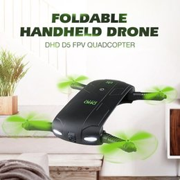 $enCountryForm.capitalKeyWord NZ - DHD D5 Selfie Drone With Wifi FPV HD Camera Foldable Pocket RC Drones Phone Control Helicopter VS JJRC H37 Mini Quadcopter Toys