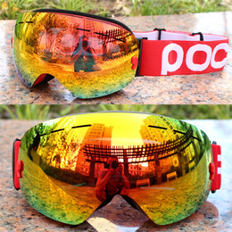 girls ski goggles NZ - POC brand ski goggles Double layers UV400 anti-fog big ski mask glasses skiing men women snow snowboard Polarized lens