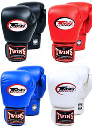 12 Gear Australia - 8 10 12 14 Oz Twins Gloves Kick Boxing Gloves Leather Pu Sanda Sandbag Training Black Boxing Gloves Men Women Guantes Muay Thai