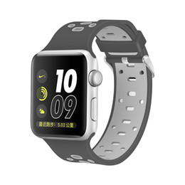 $enCountryForm.capitalKeyWord Australia - For Apple Watch Band 38mm 42mm Double Color Bracelet Wrist Band Strap for iWatch 40MM 44MM Series 2 3 4
