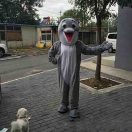 $enCountryForm.capitalKeyWord Australia - hot sale Dolphin Mascot Costume Adult Size Gray Smile Dolphin Carnival Party Xmas Cosply Mascotte Suit Kit