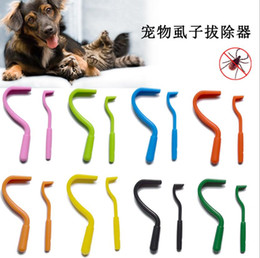 hook removers Australia - 2Pcs set Plastic Tick Twist Hook Flea Remover Hook Human Cat Dog Pet Supplies Tick Remover Tool Pet Supplies