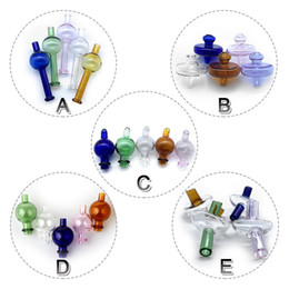 Wholesale 5 Styles Glass Carb Caps Directional Bubble Ball Straw Cap UFO Cap Colorful Glass Carb Caps For Quartz Banger Nails Water Bongs Rigs