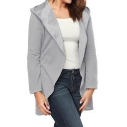 Diamond Stitch Jacket Australia - New Brand Women Casual Pocket Irregular Cardigan Coat Loose Casual Basic Jacket Elegant Long Outwear Slim Jacket