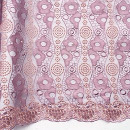 High Quality Dresses For Australia - WorthSJLH African Swiss Lace Material Pink Lilac Latest Nigerian Lace Fabric 2019 High Quality Beaded Bridal Lace Fabric For Dresses