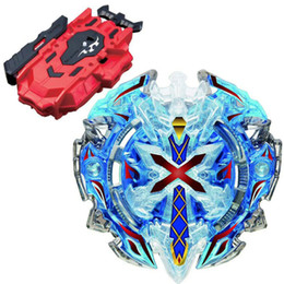 beyblade toys launcher UK - B-67 BLUE Xeno Xcalibur   Xcalius   Excalibur DOWN ORBIT Burst BOOSTER Beyblade New Kids Toy Top LR Red Bey Launcher