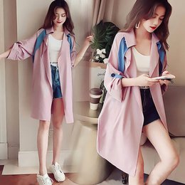$enCountryForm.capitalKeyWord Australia - Contrast Color Chic Thin Trench Outwear Student Women Coat New Long Fashion Coat For Girls Mode Femme Comfortable Woman Clothes