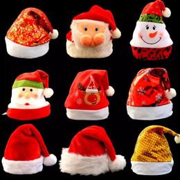 Snowman Party Decorations Australia - Christmas Hats Cute Santa Claus Snowman Pattern Hats Multi-designs Christmas Hats Adult Kids for Xmas Party Home Shop Decoration