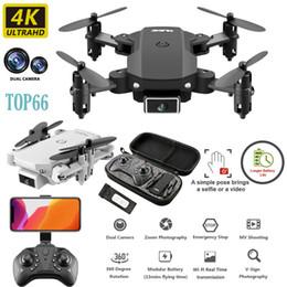 Vente en gros Drone Caméra Drone TOP66 4k HD grand angle caméra 2MP Pixels Wifi Fpv Drone double caméra Hauteur Garder Drones avec des caméras Quadcopter Rc