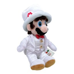 Best movie dresses online shopping - EMS Super Mario Bros Sitting Mario With White Dress CM Plush Doll Best Gift Stuffed Soft Toy