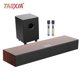 Song Stereo Australia - 5.1 Echo Wall Sound Wood High Power Subwoofer Living Room K song System Set KTV Cinema Three in One 3D Stereo Surround