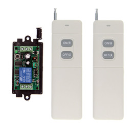 12v off remote Australia - 3000m DC 9V 12V 24V 1 CH 1CH RF Wireless Remote Control Light Motor Switch System, Transmitter + Receiver,A=ON B=OFF