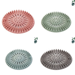 kitchen blocks Australia - Kitchen Sink Screen Strainer Silicone Anti Blocking Filter Cover Grey Green Multi Colors Floor Drain Net 1 3cm L1