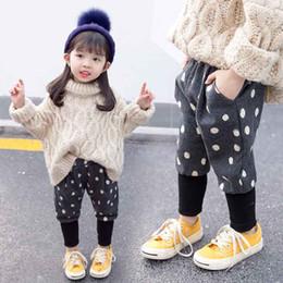$enCountryForm.capitalKeyWord Australia - Male girl Splash Pants Cotton Children Trousers Toddler Kids Harem Pants with Drawstring Fashion Style Hot products lovely warm Slim fit