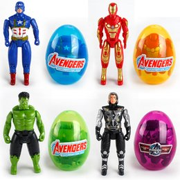 Marvel Blocks Figure Australia - The Avenger Building blocks Surprise Twist Eggs Boys Marvel Kids Toys Action Figures Captain America Iron Man Hulk Bricks Minifigures Gifts