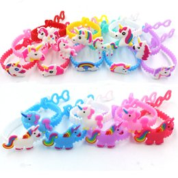 Party concert online shopping - Multi Styles Kids cartoon unicorn Wristband Animal pattern cute Bracelet For gifts party Concert kids toys