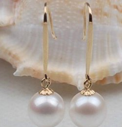 $enCountryForm.capitalKeyWord UK - Jewelryr Pearl Earring PERFECT ROUND SOUTH SEA GENUINE 11MM WHITE LOOSE PEARL EARRING SETTING Free Shipping