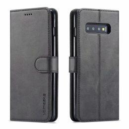 SamSung galaxy a8 flip caSe online shopping - LC IMEEKE Leather Flip Case For Samsung Galaxy S10 S9 S8 plus S10E G Note A6 A7 A8 J4 J6 Case Cover Phone Cases Wallet Card slot