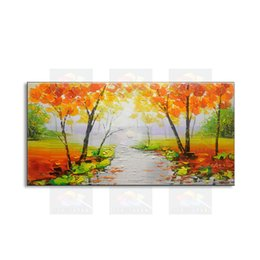 Original Oil NZ - hand-painted modern living room decorative Landscape oil painting 100% best Knife painting original directly from arti FJSH1-012